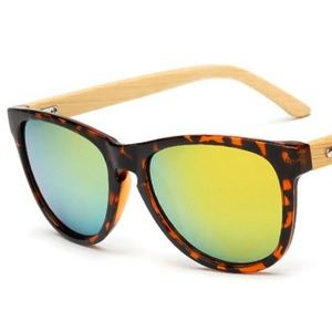 afd993bb26 Vintage Bamboo Foot Sunglasses - Leopard